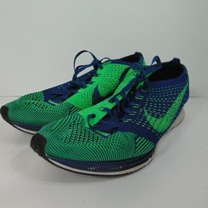 028dfec41ad6c Nike Shoes - Nike Flyknit Racer Seahawks Brave Running Shoes 10